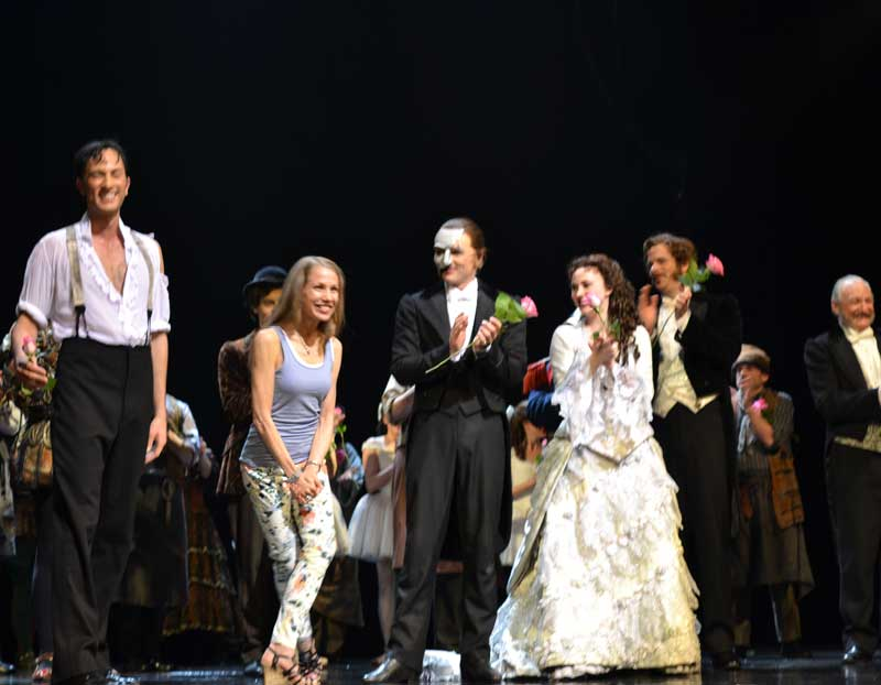 Laurie taking her final Phantom of the Opera bow