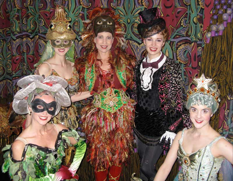 Laurie with the Phantom of the Opera Masquerade dancers